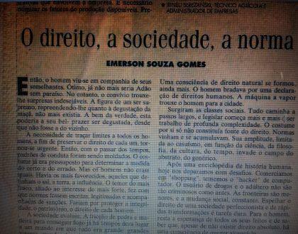 O direito, a sociedade, a norma