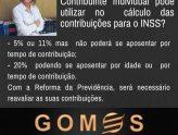 Qual percentual utilizar para cálculo das contribuições ao INSS?