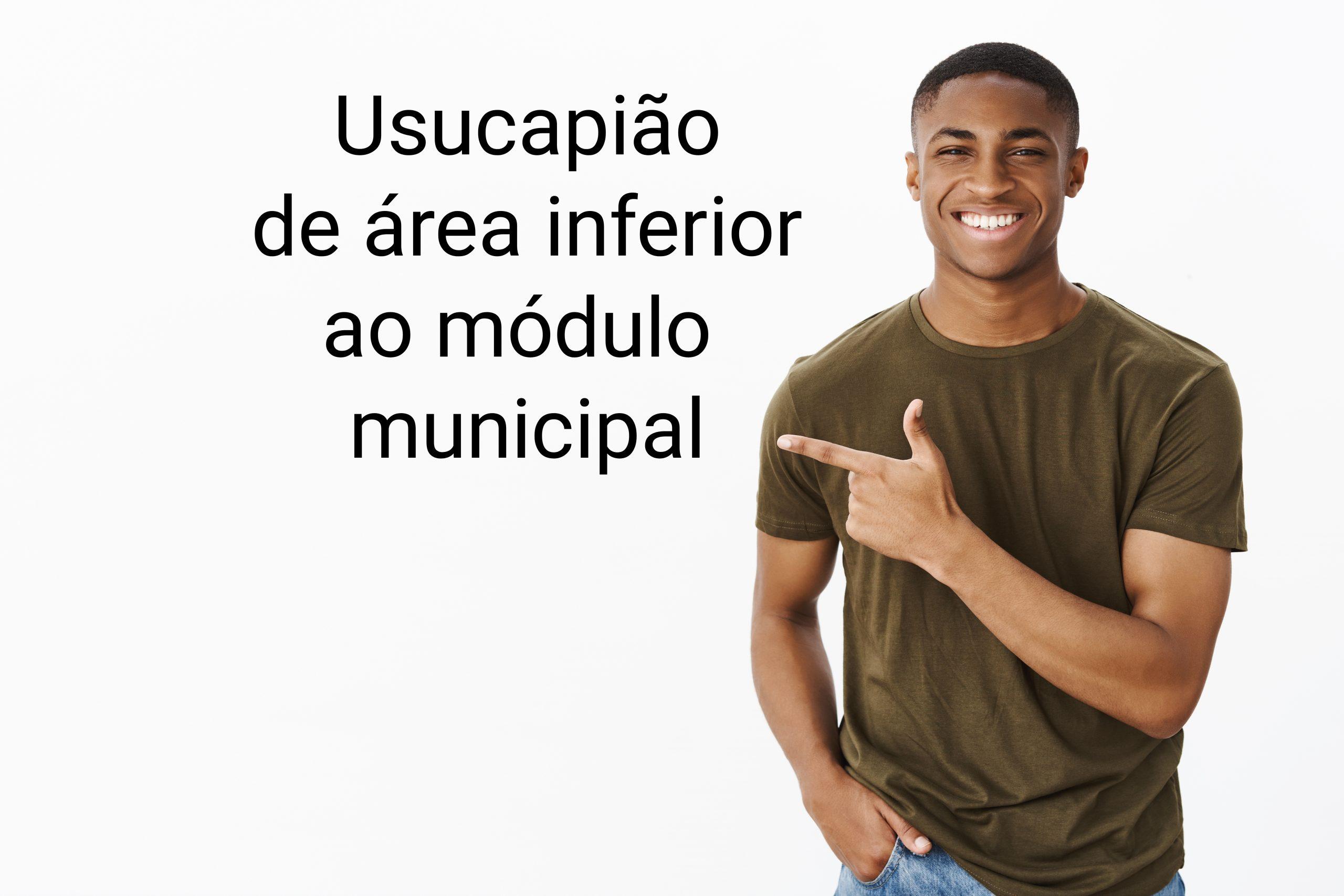 Usucapião de área inferior ao módulo municipal